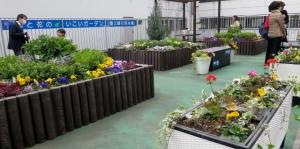 """葛飾区の2階""""花と緑の憩いガーデン"""""""