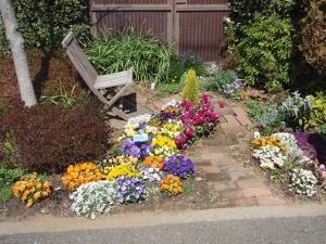中央花壇、西花壇、東花壇、北花壇 キッズ花壇、チューリップ花壇